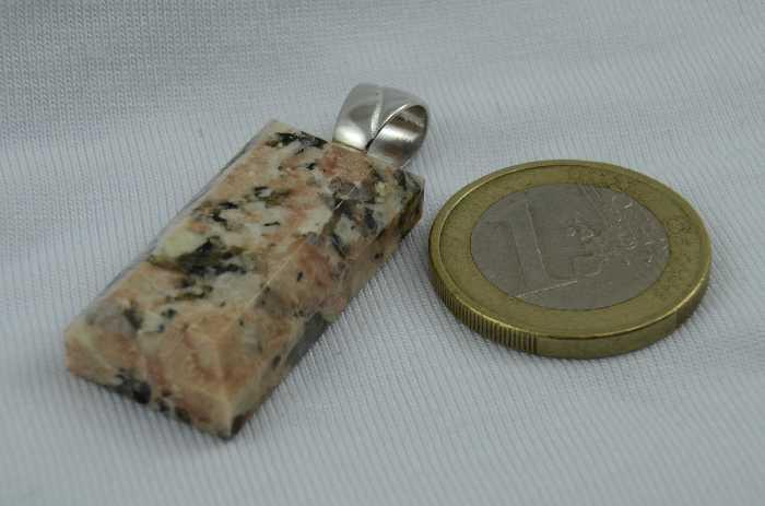 Anhänger Rechteck, Montanregion Erzgebirge, Zschorlauer Granit