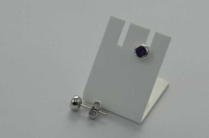 Ohrstecker 'Amethyst facettiert'