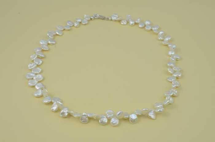 Collier 'Keshi Perlen naturweiß'