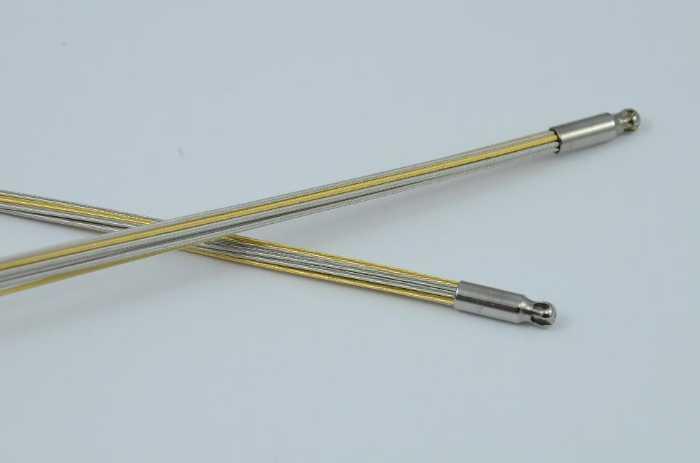 Wechselschließen Collier, Wechselkette 'Edelstahlseil bicolor, 10-fach, 42 cm'