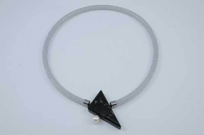 Wechselschließe ´Vasskis Dreieck mit Perle - Sonderform´